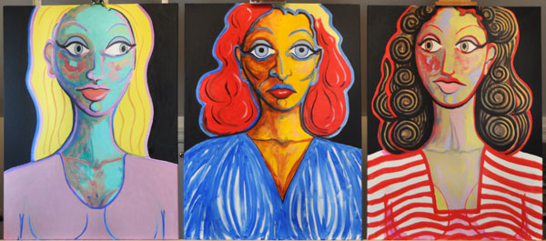 When-The-Boss-Lady-Speaks-triptych ol 108x40 2015